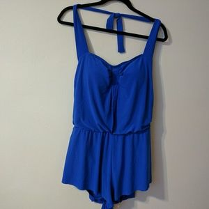 Agua Green Swimsuit Sz L One Piece Blue